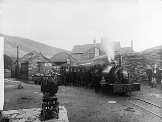 Corris - Corris railway station circa 1885.
