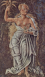 Demeter (Ceres), allegory of August: detail of a fresco by Cosimo Tura, Palazzo Schifanoia, Ferrara, 1469–70