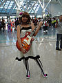 Cosplayer of Yui Hirasawa from K-On! at Anime Expo 20100702.jpg