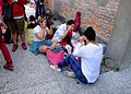 Cosplayers Make-up on Ground in FFK8 20151129a.jpg