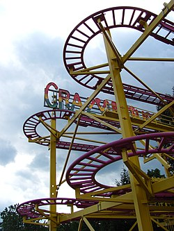 Crazy Mouse ride at DelRosso's Amusement Park in Tipton