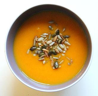 Pumpkin soup - Image: Crema de calabaza