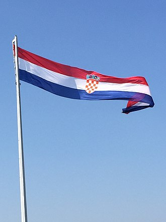 Flag of Croatia - Flag of Croatia on Knin Fortress