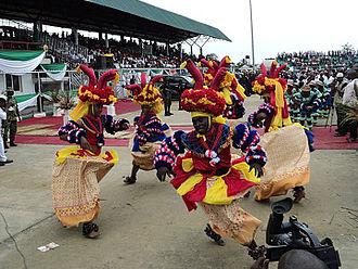 Cross River (Nigeria) - Dancers in Cross river state attire