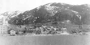 The cryolite mine in Ivittuut in 1940