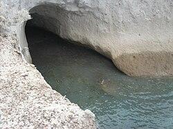 Las aguas subterráneas, sus afloramientos y las formaciones en las grutas. 250px-Cueva_en_el_cabo_san_jorge