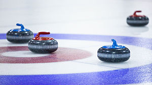 The faculty had a curling bonspiel at the East...