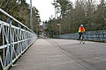 Cycling Over Ravenna Park Bridge (now a pedestrian and cyclist bridge only).JPG