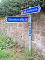 Cycling route signs, Landican.JPG
