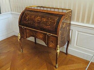Cylinder desk - Image: Cylinder desk David Roentgen Münchner Residenz DSC07473