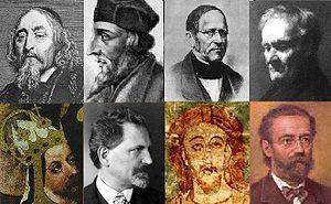 Comenius, Jan Hus, Frantisek Palacky, Jan Evangelista Purkinje, Charles IV, Alfons Mucha, Vratislav II, Bedřich Smetana