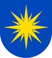 Dědice - osmihrotá zářící hvězda v modrém poli.png