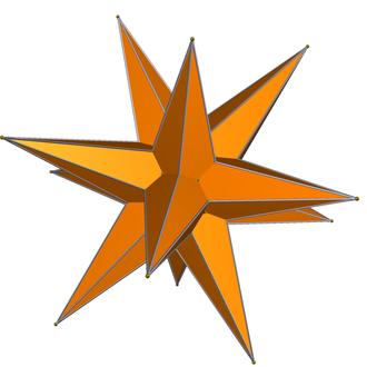 Great triambic icosahedron - Image: DU47 great triambic icosahedron