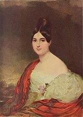 Daffingers Porträt seiner Gattin Maria Theresia Smolenitz von Smolk, ca. 1827 (Quelle: Wikimedia)