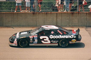 North Carolina Highway 3 - The highway is numbered in honor of Dale Earnhardt's car number (pictured at the Michigan International Speedway in 1994)