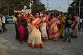 Dancing Devotees - Durga Idol Immersion Ceremony - Baja Kadamtala Ghat - Kolkata 2012-10-24 1698.JPG
