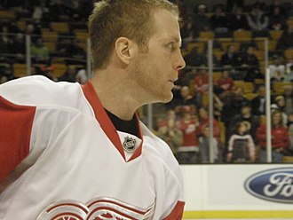 Daniel Cleary - Cleary with the Red Wings in 2008