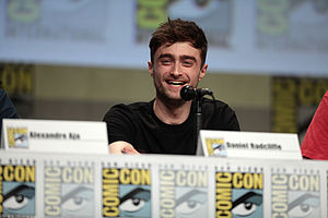 Horns (film) - Radcliffe at a panel for the film at San Diego Comic-Con International in July 2014