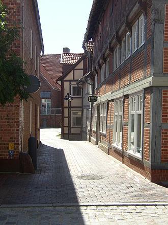 Dannenberg (Elbe) - Image: Dannenberg Blick zum Adolfsplatz