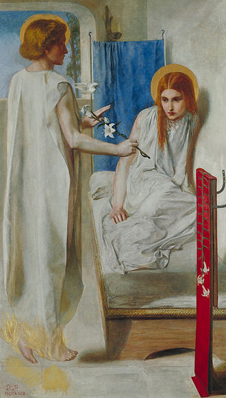 Maria (given name) - The Annunciation by Dante Gabriel Rossetti, 1850.