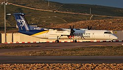De Havilland DHC-8-400 der Air Iceland