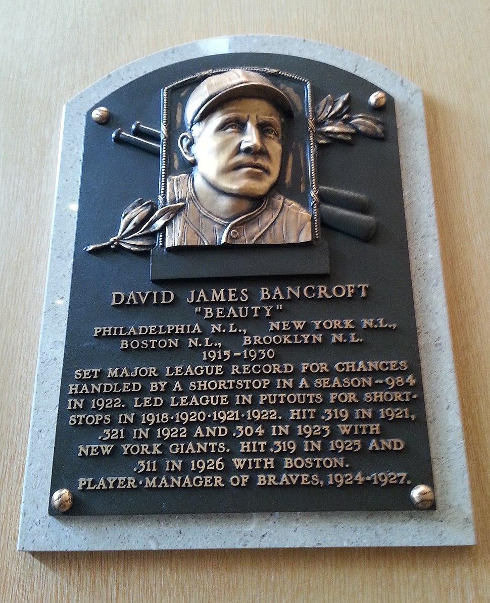 Dave Bancroft plaque