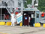Deck Officer behind the Gangway of ROCN Yung Jin (MHC-1310) 20130504.jpg