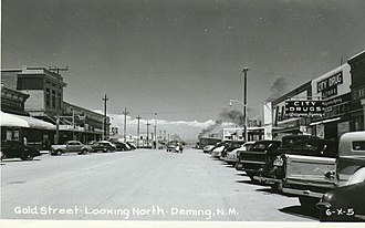 Deming, New Mexico - Looking north on Gold Street, 1950s,  Deming