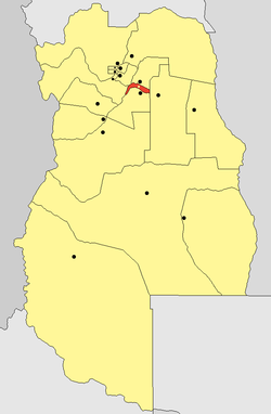 location o Junín Depairtment in Mendoza Province