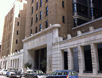 Association of Chartered Certified Accountants - The art deco Adelphi building from the 1930s, located at 1-10 John Adam Street in London, is the current HQ of ACCA