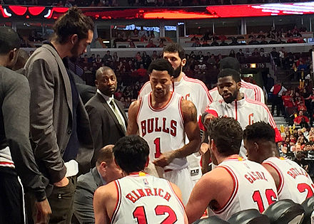 Rose during a timeout in 2015 f15b782b9