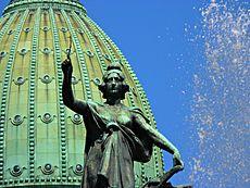 Fuente y cúpula del Congreso ArgentinoAutor: Emiliorisoli