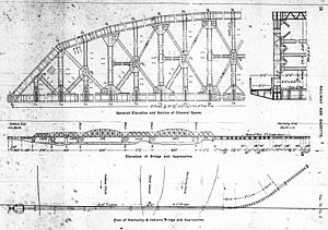 Kentucky & Indiana Terminal Bridge - Engineering drawing of the new bridge