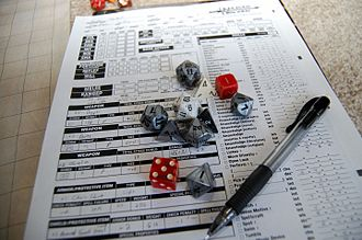 Tabletop role-playing game - Statistics recorded on a character sheet