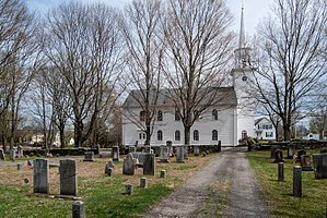 Dighton Community Church - The cemetery.
