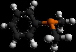 Dimethylphenylphosphine - Image: Dimethylphenylphosph ine 3D balls by AHRLS 2012