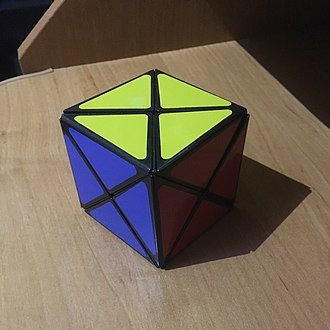 Dino Cube - The six-colour Dino Cube in its solved state