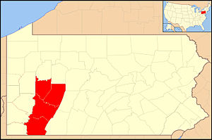Roman Catholic Diocese of Greensburg - Image: Diocese of Greensburg map 1