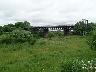 Westburn Viaduct - view of the viaduct from the south bank