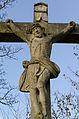 Dittelbrunn, Holzhausen, Friedhof, Kreuzigungsgruppe, 004.jpg