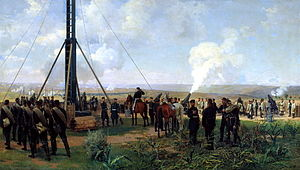 Siege of Plevna - The artillery battle at Pleven. The battery of siege guns on the Grand Duke Mount, by Nikolai Dmitriev-Orenburgsky