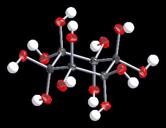 Dodecahydroxycyclohexane - Image: Dodecahydroxycyclohe xane from dihydrate xtal CM 3D ellipsoids