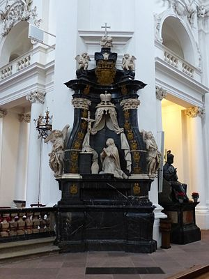 Adolphus von Dalberg - His epitaph already in 1732 in the Fulda Cathedral.