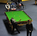 Dominic Dale, Jimmy White and Maike Kesseler at Snooker German Masters (DerHexer) 2013-01-30 02.jpg