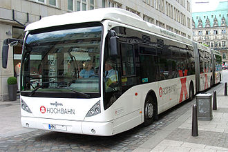 Bi-articulated bus - A Van Hool bi-articulated bus in Hamburg, Germany