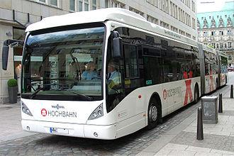 Bi-articulated bus - A Van Hool bi-articulated bus in Hamburg, Germany