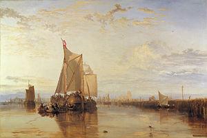 Dort or Dordrecht: The Dort packet-boat from Rotterdam becalmed - Image: Dortor Dordrecht