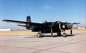 47th Operations Group - Douglas A-26C Invader (Later B-26C) flown by the 47th Bomb Group from early 1945 into the postwar era, before being replaced by the B-45 in 1948