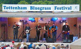 Doyle Lawson - Image: Doyle Lawson & Quicksilver on stage at the 2015 Tottenham Bluegrass Festival in Ontario, Canada