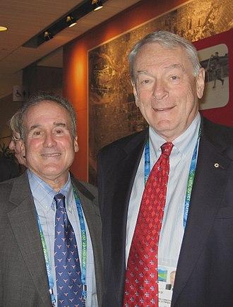 Steven Ungerleider - Steven Ungerleider (left) at the presentation of the humanitarian award to Dick Pound (right), February 2010